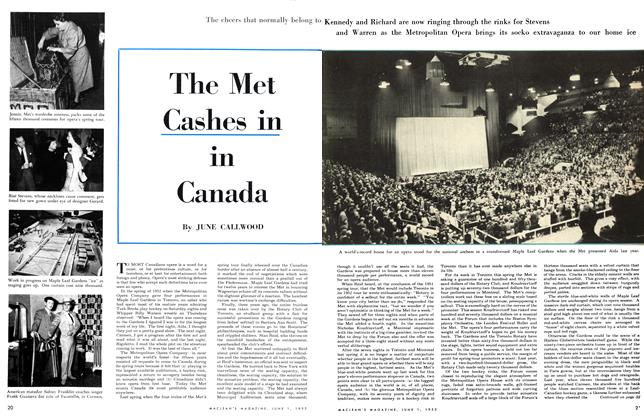 Article Preview: The Met Cashes in in Canada, June 1953 | Maclean's