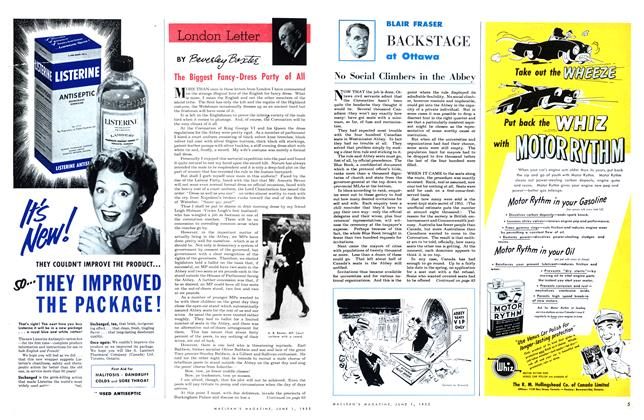 Article Preview: The Biggest Fancy-Dress Party of All, June 1953 | Maclean's