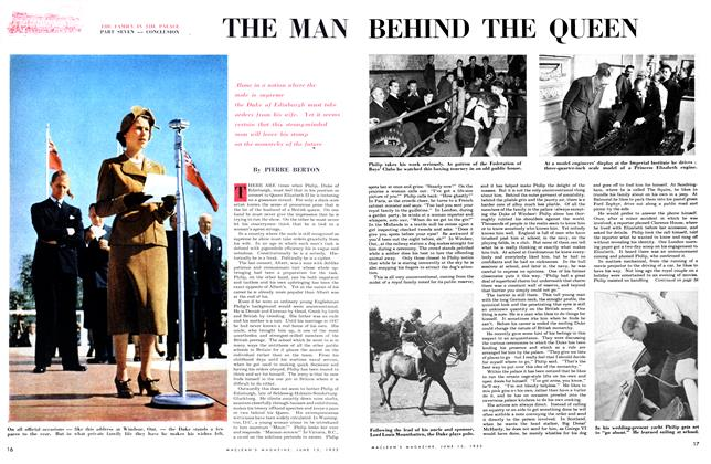 Article Preview: THE MAN BEHIND THE QUEEN, June 1953 | Maclean's