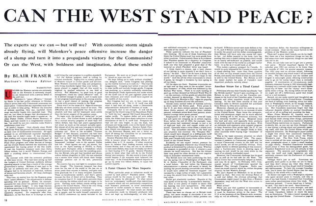 Article Preview: CAN THE WEST STAND PEACE?, June 1953 | Maclean's