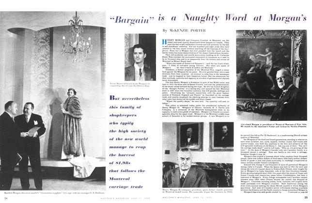 "Article Preview: ""Bargain"" is a Naughty Word at Morgan's, June 1953 