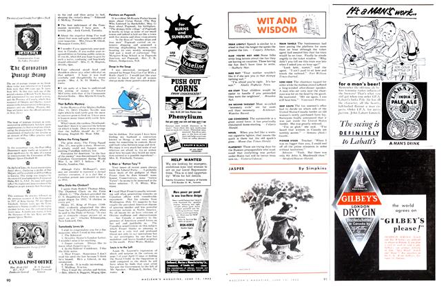 Article Preview: WIT AND WISDOM, June 1953 | Maclean's