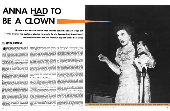 Article Preview: ANNA HAD TO BE A CLOWN, June 1953 | Maclean's
