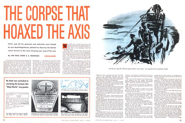 Article Preview: THE CORPSE THAT HOAXED THE AXIS, July 1953 | Maclean's