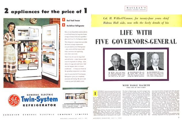 Article Preview: LIFE WITH FIVE GOVERNORS-GENERAL, July 1953 | Maclean's
