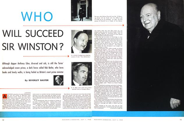 Article Preview: WHO WILL SUCCEED SIR WINSTON?, July 1953 | Maclean's