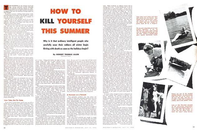 Article Preview: HOW TO KILL YOURSELF THIS SUMMER, July 1953 | Maclean's