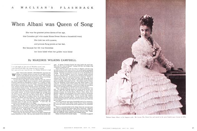 Article Preview: When Albani was Queen of Song, July 1953 | Maclean's