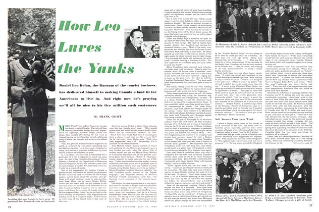 Article Preview: How Leo Lures the Yanks, July 1953 | Maclean's