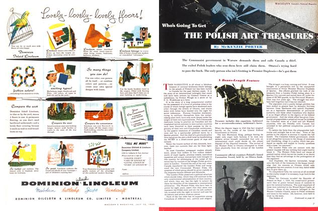 Article Preview: Who's Going To Get THE POLISH ART TREASURES, July 1953 | Maclean's