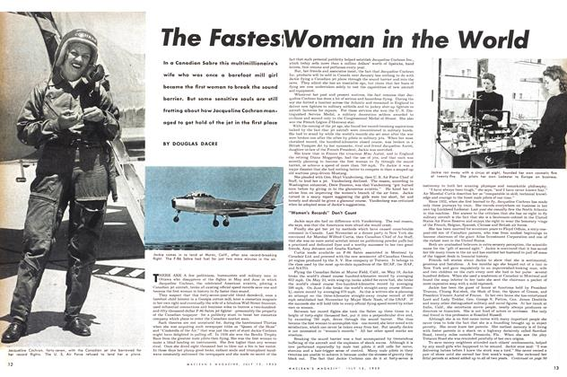 Article Preview: The Fastest Woman in the World, July 1953 | Maclean's