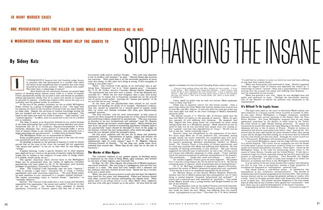 Article Preview: STOP HANGING INSANE, August 1953 | Maclean's