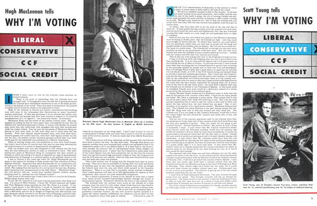 Article Preview: WHY I'M VOTING, August 1953 | Maclean's