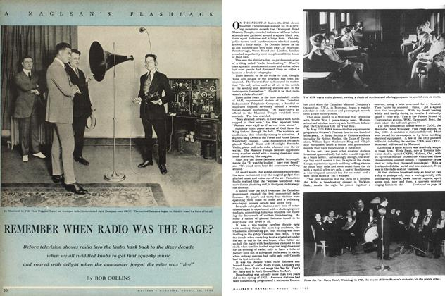 Article Preview: REMEMBER WHEN RADIO WAS THE RAGE?, August 1953 | Maclean's