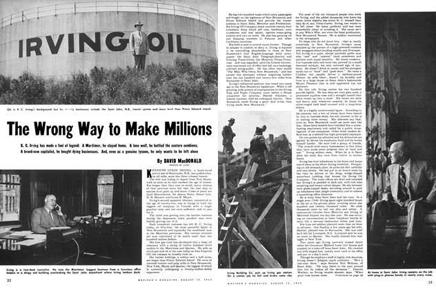 Article Preview: The Wrong Way to Make Millions, August 1953 | Maclean's