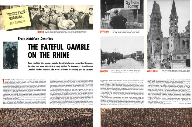 Article Preview: THE FATEFUL GAMBLE ON THE RHINE, August 1953 | Maclean's