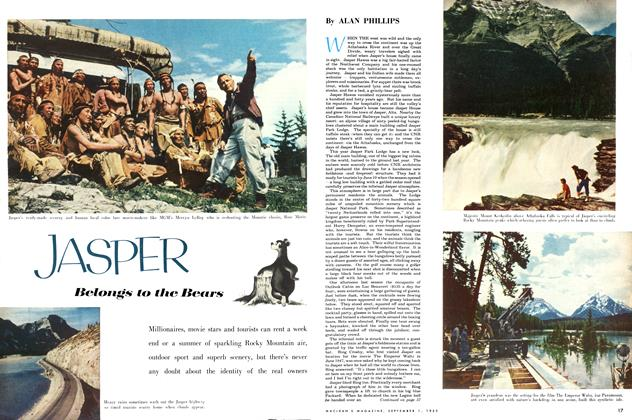 Article Preview: JASPER Belongs to the Bears, September 1953 | Maclean's