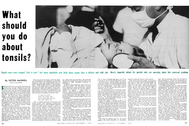 Article Preview: What should you do about tonsils?, September 1953 | Maclean's