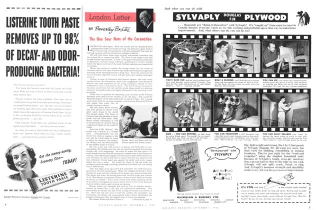 Article Preview: The One Sour Note of the Coronation, September 1953 | Maclean's