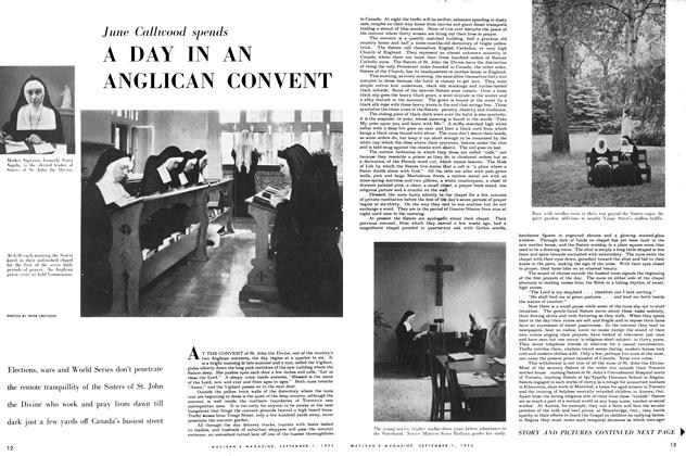 Article Preview: A DAY IN AN ANGLICAN CONVENT, September 1953 | Maclean's
