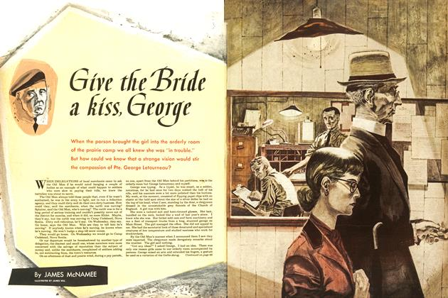 Article Preview: Give the Bride a kiss, George, September 1953 | Maclean's