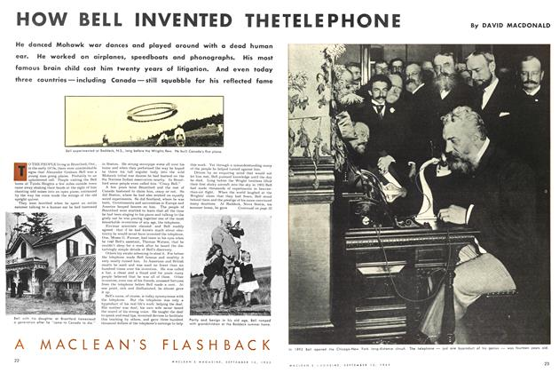 Article Preview: HOW BELL INVENTED THE TELEPHONE, September 1953 | Maclean's