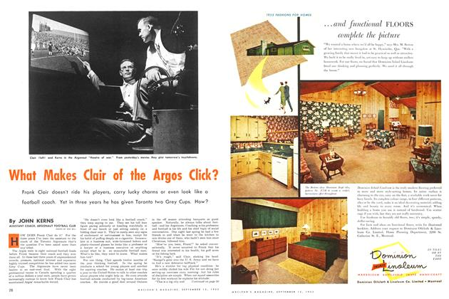 Article Preview: What Makes Clair of the Argos Click?, September 1953 | Maclean's