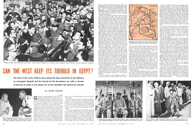 Article Preview: CAN THE WEST KEEP ITS TOEHOLD IN EGYPT?, September 1953 | Maclean's