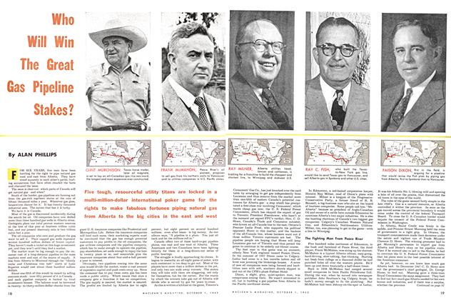 Article Preview: Who Will Win The Great Gas Pipeline Stakes?, October 1953 | Maclean's