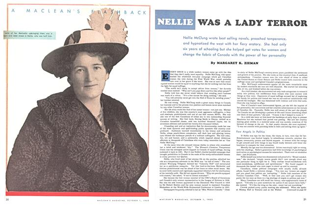 Article Preview: NELLIE WAS A LADY TERROR, October 1953 | Maclean's