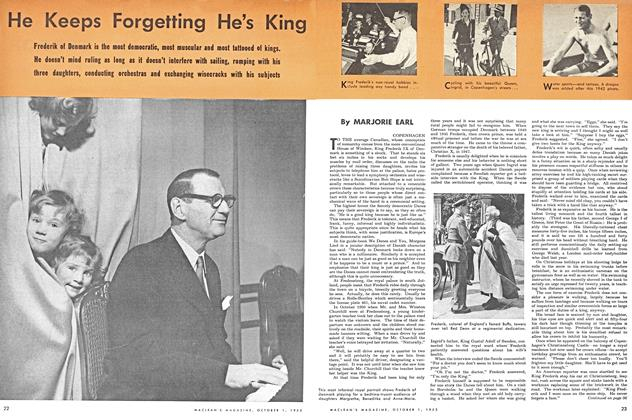 Article Preview: He Keeps Forgetting He's King, October 1953 | Maclean's
