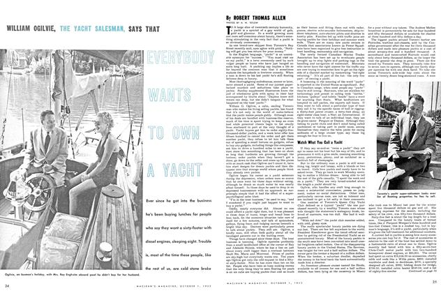 Article Preview: EVERYBODY WANTS TO OWN A YACHT, October 1953 | Maclean's