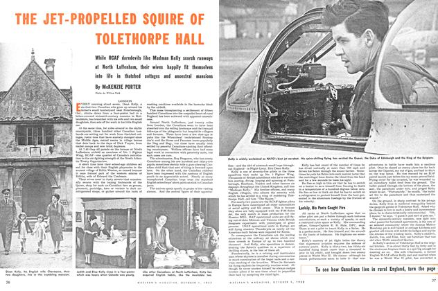 Article Preview: THE JET-PROPELLED SQUIRE OF TOLETHORPE HALL, October 1953 | Maclean's