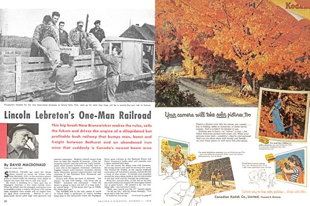 Article Preview: Lincoln Lebreton's One-Man Railroad, October 1953 | Maclean's