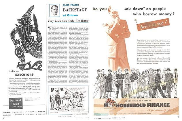 Article Preview: Tory Luck Can Only Get Better, October 1953 | Maclean's