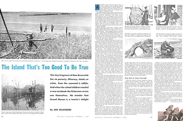 Article Preview: The Island That's Too Good To Be True, October 1953 | Maclean's