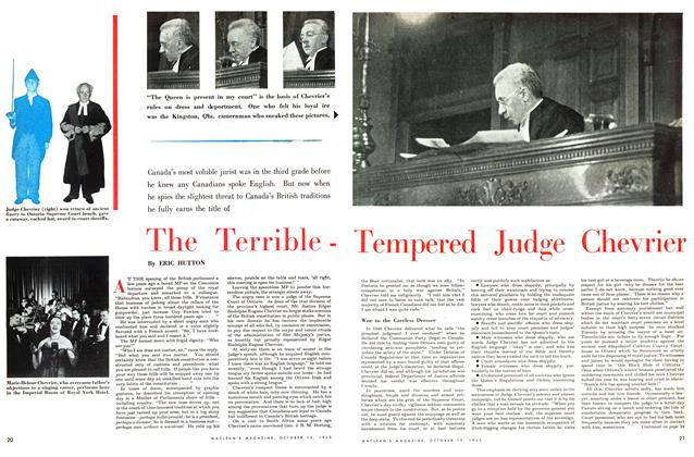 Article Preview: The TerribleTempered Judge Chevrier, October 1953 | Maclean's