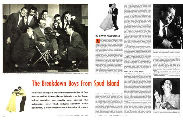 Article Preview: The Breakdown Boys From Spud Island, October 1953 | Maclean's