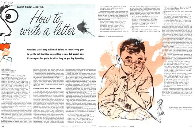 Article Preview: How to write a letter, November 1953 | Maclean's