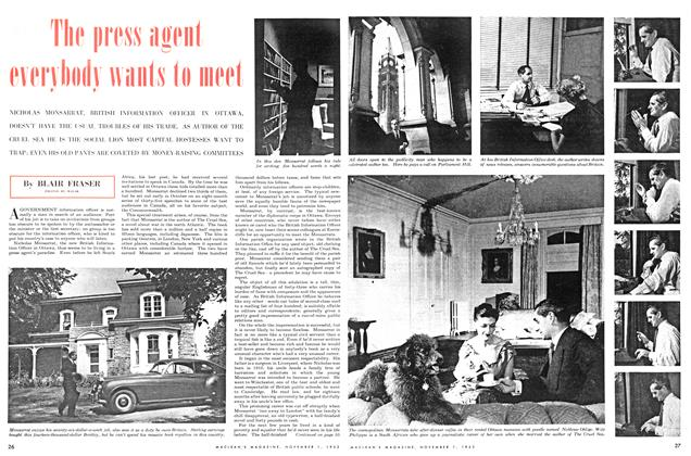 Article Preview: The press agent everybody wants to meet, November 1953 | Maclean's