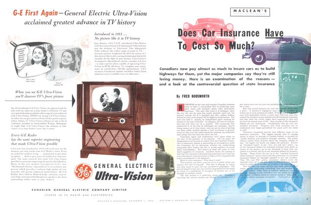 Article Preview: Does Car Insurance Have To Cost So Much?, November 1953 | Maclean's