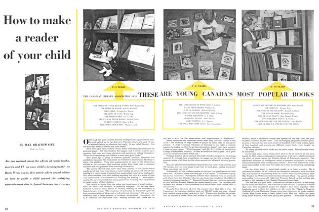 Article Preview: How to make a reader of your child, November 1953 | Maclean's