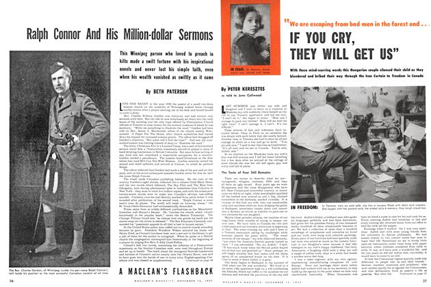 "Article Preview: We are escaping from bad men in the forest and ... IF YOU CRY, THEY WILL GET US"", November 1953 