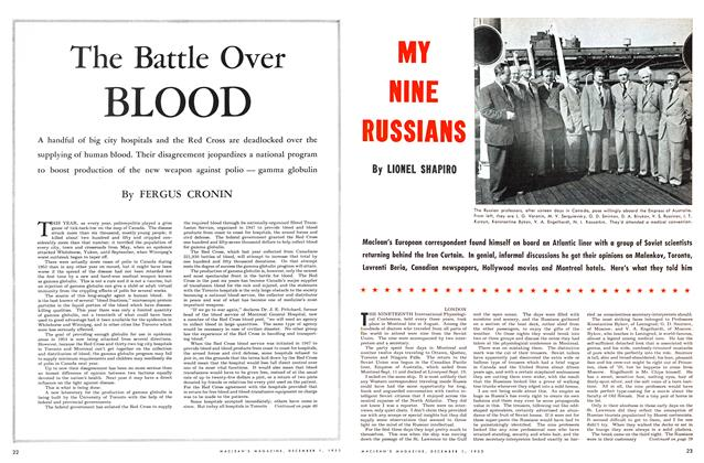 Article Preview: The Battle Over BLOOD, December 1953 | Maclean's