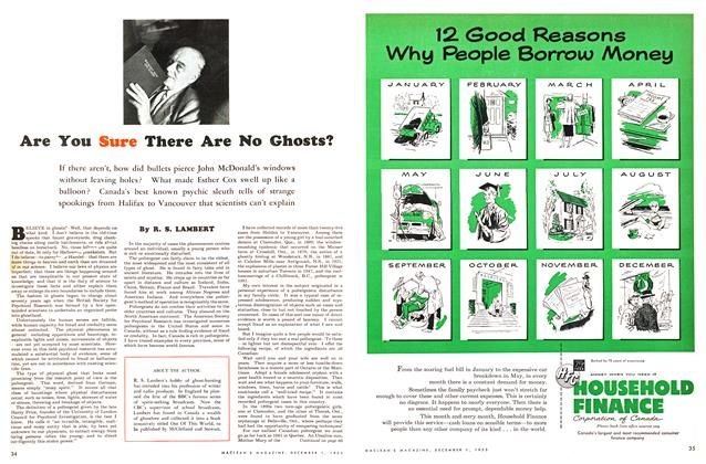 Article Preview: Are You Sure There Are No Ghosts?, December 1953 | Maclean's