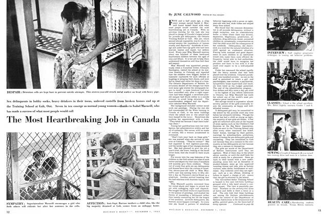 Article Preview: The Most Heartbreaking Job in Canada, December 1953 | Maclean's