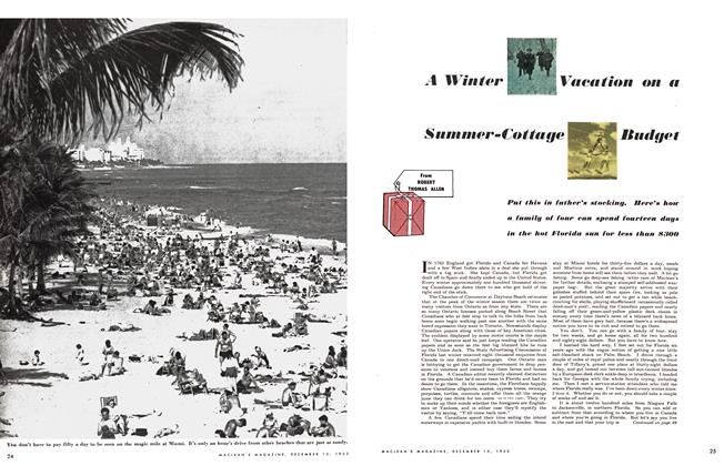 Article Preview: A Winter Vacation on a Summer-Cottage Budget, December 1953 | Maclean's