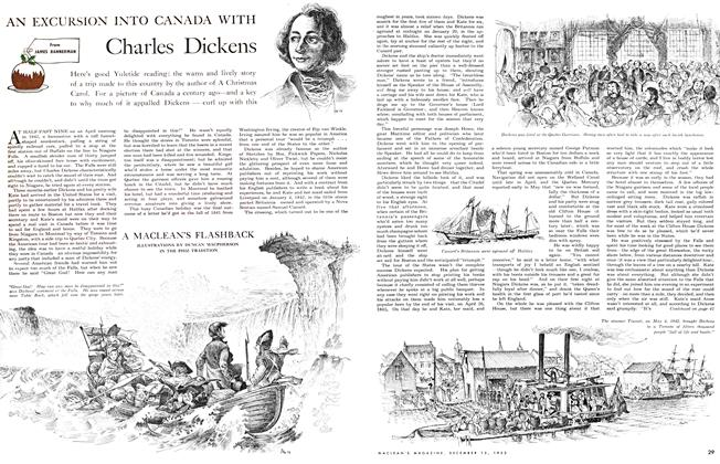 Article Preview: AN EXCURSION INTO CANADA WITH Charles Dickens, December 1953 | Maclean's