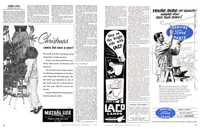 Article Preview: London Letter, December 1953 | Maclean's