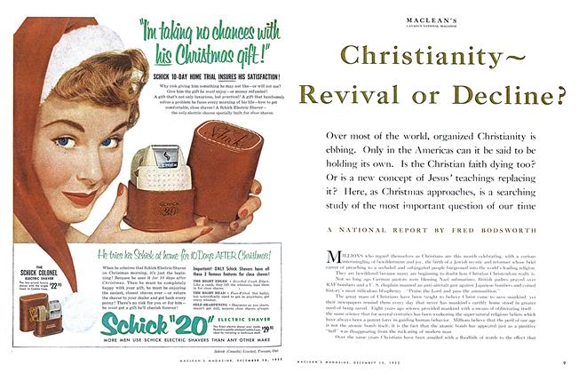 Article Preview: Christianity~ Revival or Decline?, December 1953 | Maclean's
